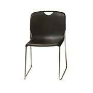 Addy armless stacker chair_black