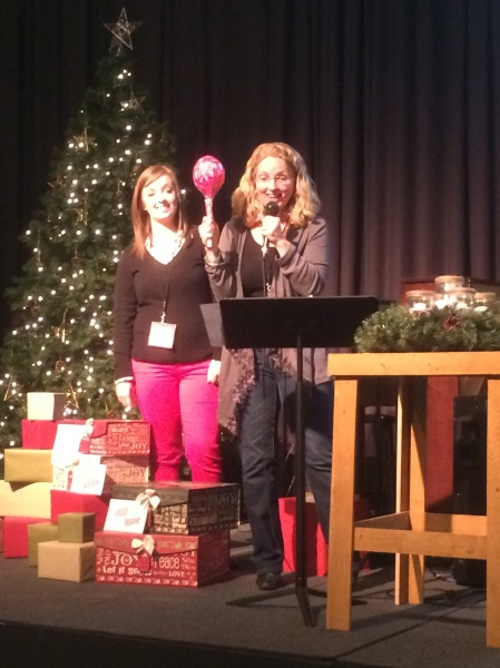 Children's pastor Shelley and Maggie share the message.