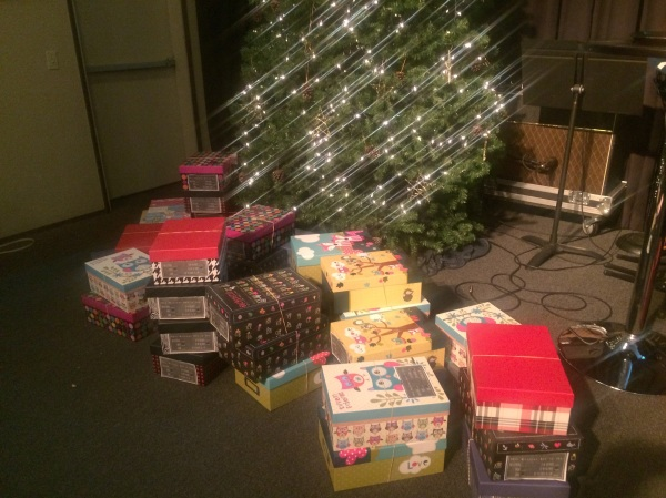 Fifty boxes done and ready to bless some foster children!