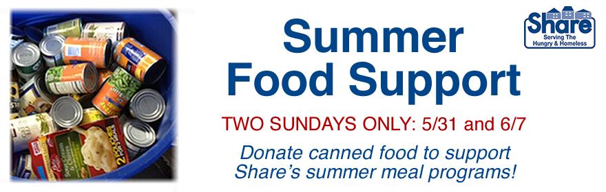 share summer food drive blog