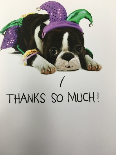 Just a little JESTER of our gratitude!
